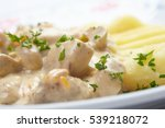 mashed potato with meat | Shutterstock . vector #539218072