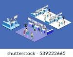 isometric flat 3d concept... | Shutterstock . vector #539222665