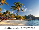 beautiful bora bora sunset... | Shutterstock . vector #539226796