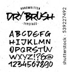 hand made typeface 'dry brush'. ... | Shutterstock .eps vector #539227492