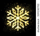 gold christmas snowflake icon.... | Shutterstock .eps vector #539230702
