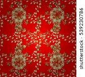 vintage pattern on red... | Shutterstock .eps vector #539230786