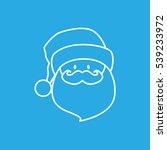 santa claus line outline icon... | Shutterstock .eps vector #539233972