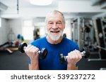 senior man in gym working out... | Shutterstock . vector #539237272