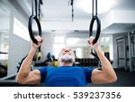 senior man in gym working out... | Shutterstock . vector #539237356