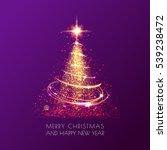 magic shining christmas tree... | Shutterstock .eps vector #539238472