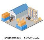 isometric flat 3d concept... | Shutterstock . vector #539240632
