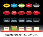 editable website buttons on... | Shutterstock .eps vector #53924221