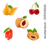 realistic fruits vector icons... | Shutterstock .eps vector #539243032