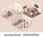 isometric interior of sweet... | Shutterstock . vector #539243968