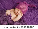 the small baby lies on the... | Shutterstock . vector #539248186