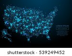abstract image of a usa map in... | Shutterstock .eps vector #539249452