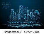 abstract image of a cityscape... | Shutterstock .eps vector #539249506