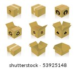 paper boxes | Shutterstock .eps vector #53925148