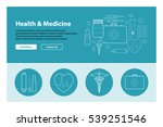 line art design of web header... | Shutterstock .eps vector #539251546