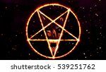 Inverted Pentagram Symbol With...