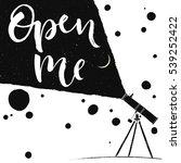 telescope observation open me... | Shutterstock .eps vector #539252422