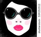 big black glasses on fashion... | Shutterstock .eps vector #539252512