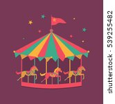 the carousel with horses.... | Shutterstock .eps vector #539255482