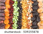 Dried Fruit Background. Rows O...