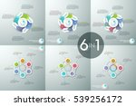set of infographic design... | Shutterstock .eps vector #539256172
