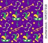 mardi gras carnival seamless... | Shutterstock .eps vector #539257318