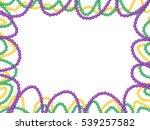mardi gras beads frame ... | Shutterstock .eps vector #539257582