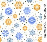 falling christmas stylized... | Shutterstock .eps vector #539258722