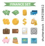 money and finance icons  modern ... | Shutterstock .eps vector #539258812
