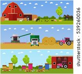 set of farming  wheat... | Shutterstock .eps vector #539260036