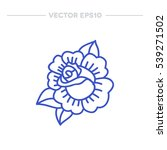 doodle icon. rose flower.... | Shutterstock .eps vector #539271502