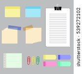 paper banners with notes set... | Shutterstock .eps vector #539272102