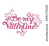 be my valentine inscription on... | Shutterstock .eps vector #539275435
