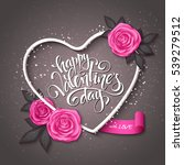 vector happy valentines day... | Shutterstock .eps vector #539279512