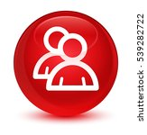 group icon glassy red round...   Shutterstock . vector #539282722