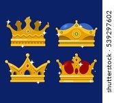 emperor golden crown or monarch ... | Shutterstock .eps vector #539297602