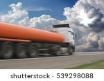 container on the big highway.... | Shutterstock . vector #539298088