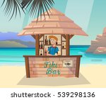 hawaii tiki bar with alcohol... | Shutterstock .eps vector #539298136