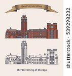 architecture of university of... | Shutterstock .eps vector #539298232