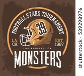 american football helmet with... | Shutterstock .eps vector #539298976