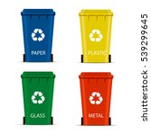 Realistic Set Recycle Bins For...