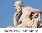 classical statue of socrates... | Shutterstock . vector #539300422