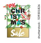 winter sale poster. banner... | Shutterstock .eps vector #539301826