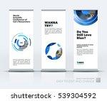abstract business vector set of ... | Shutterstock .eps vector #539304592