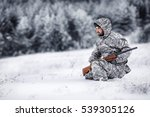 Male Hunter In Camouflage ...