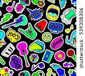 colorful fun seamless pattern... | Shutterstock .eps vector #539308306