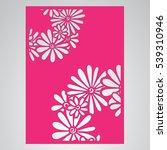 die cut card. laser cut vector... | Shutterstock .eps vector #539310946