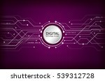 hi tech computer digital... | Shutterstock .eps vector #539312728