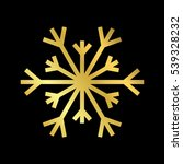 gold christmas snowflake icon.... | Shutterstock .eps vector #539328232