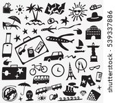 travel icons set | Shutterstock .eps vector #539337886